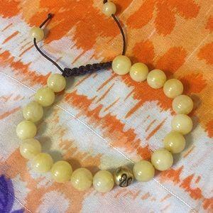 """Jewelry - Leo Zodiac """"Yellow Jade"""" Bracelet"""